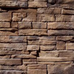Manufactured Stone - Carolina Ready Stack - Alabama Ledgestone / Ready-Stack 9 Sq ft Flat
