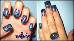 My favourite nail design I've done in a long time! :)    Done by ME! (spilledpolish)