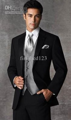 Wholesale Two buttons Slim fit Groom Tuxedos Best man Suit (JacketPantsTievesthandkerchief) ok:899, Free shipping, $99.68-128.8/Piece | DHgate