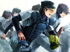 Diamond no Ace (Ace Of Diamond) Image - Zerochan Anime Image Board Baseball Anime, Baseball Boys, Baseball Birthday, Baseball Boyfriend, Baseball Shirts, Baseball Field, Baseball Cards, Diamond No Ace, Baseball Tattoos