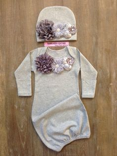 Newborn Girl Take Home Outfit Couture Heather by BabicakesCouture