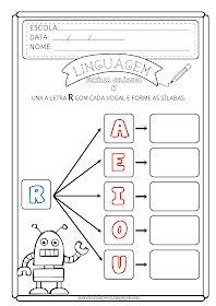 Atividade letra R Preschool Writing, Preschool Worksheets, Mario, Phonics, Professor, Notebook, Classroom, Education, Reading