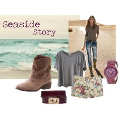 """Seaside story"" by gabriela-cuzic on Polyvore"