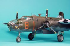 Hi all here is my B 25 Mitchell from Accurate miniatures  representing an aircraft from the Dutch 320th Squadron during WW2 It was build in 1999 so that mak...