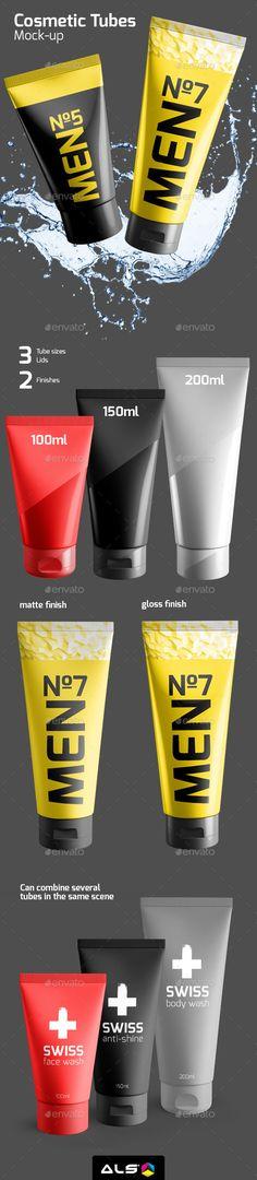 Cosmetic Tube Mock-up #design Download: http://graphicriver.net/item/cosmetic-tube-mockup/12165635?ref=ksioks