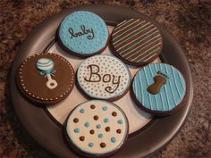 Cutest Babyshower cookies ever! Would make great favors.