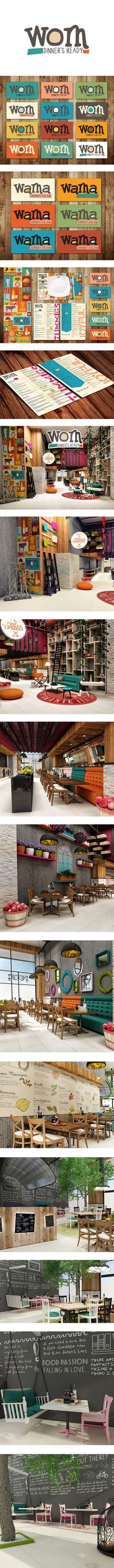 Wom Cafe Restaurant Brand Development & Corporate identity