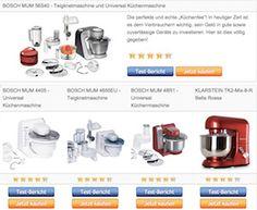 Universal Küchenmaschine und Teigknetmaschine - Tabelle der testsieger