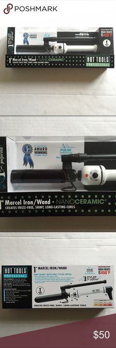 """1"""" Marcel Iron / Wand 1"""" marcel iron / wand (nano ceramic) by Hot Tools Professional. Use for frizz free, long lasting curls. Heats up to 450 degrees. NWT and in original packaging. #K057 Hot Tools Professional Accessories Hair Accessories"""