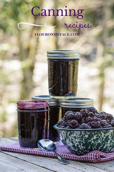 Canning Recipes from blackberry jam to more interesting jam recipes like Sweet Cherry Vanilla Jam. I've compiled all my canning recipes in one page.