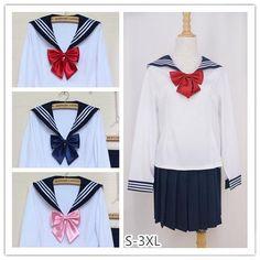 [Set]Sailor Seifuku School Uniform Long Sleeve 2 pieces set SP141062