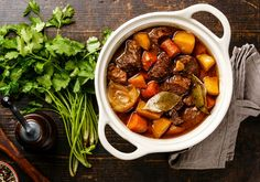 Gold Medal Wine Club features hundreds of mouth-watering recipes designed to compliment your wine of the month club selections, including Beef Bourguignon Beef Bourguignon, Meat Recipes, Slow Cooker Recipes, Old Fashioned Beef Stew, Beef And Potato Stew, Vegetable Stew, Dinner, Cooking, Ethnic Recipes