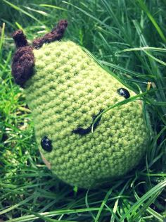 Pear :) - From Ana Paula Rimoli's 'Amigurumi World'.
