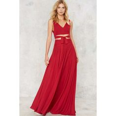 Big Deal Maxi Skirt ($47) ❤ liked on Polyvore featuring skirts, red, long gathered skirt, wide skirt, long red skirt, maxi skirt and floor length maxi skirt