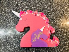 Excited to share the latest addition to my #etsy shop: Personalised Freestanding Wooden Unicorn