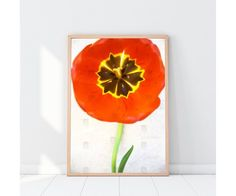 red tulip printable art, floral photo valentines day gift for girlfriend, large flower digital poster, romantic bedroom wall decoration Texture Photography, Fine Art Photography, Red Tulips, Red Flowers, Wedding Photography India, Handmade Decorations, Valentine Day Gifts, Valentines, Botanical Art