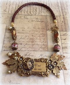 Putting it All Together - Assemblage Jewelry by kathy on Etsy