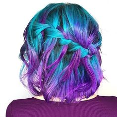 @hairtaylored from @hugosalon is the artist... Pulp Riot is the paint.