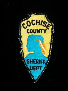 Vintage COCHISE COUNTY SHERIFF Dept. Patch by mytesoros on Etsy, $25.00