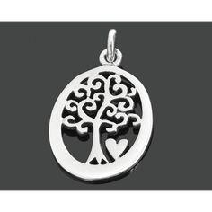 Ein wunderschöner 925 Sterling Silber Anhänger Baum. Der Anhänger ist sehr schön…