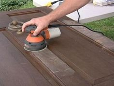 Let the DIYNetwork.com experts show you how to refinish a wooden front door. & How to Refinish an Exterior Door The Easy Way | Front doors Change ...