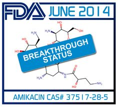 Late June 2014 Insmed's liposomal Amikacin (Arikace) won Breakthrough Status from the FDA. Amikacin was specifically designated Breakthrough Status for treatment refractory nontuberculous mycobacterial lung disease in adults. As an inhaled antibiotic Amikacin is effectual for treating chronic nontuberculous mycobacterial lung disease, a condition which effects roughly 50,000 people in the U.S. Amikacin is commencing Phase III development after positive results emerged from Phase II trials.