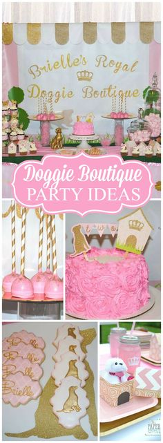 What an adorable doggie party with a boutique theme! See more party ideas at CatchMyParty.com!