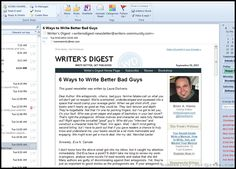 Writer's Digest Newsletter is a free resource to improve your writing and connect you with the publishing industry.  #writing #blogging #resource