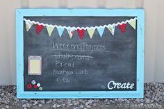 Robins Egg Blue Magnetic Chalk board!