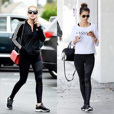 INSPIRATION   #aloyoga #motolegging #maisonsimons #ifiv5 #alessandraambrosio #ashleybenson #streetstyle #activewear #athleisure  http://www.simons.ca/simons/product/12421-165494/Bottoms/Moto+shiny+insert+legging?/en/&catId=&colourId=1