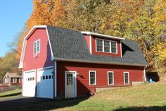 24x28 2 Car 2 Story Garage Gambrel Roof Carriage Doors Shed Dormer Barn House Plans 2