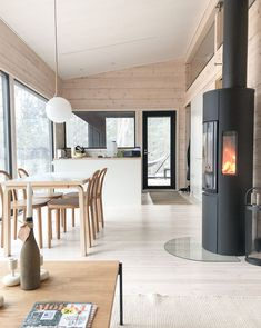 Flat Interior, Minimalist Home Interior, Interior Design, Cabin Design, Cottage Design, House Design, Plan Chalet, Modern Mountain Home, Wooden Cabins