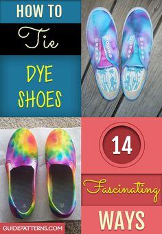 How to Tie Dye Shoes: 14 Fascinating Ways Sharpie Shoes, Sharpie Tie Dye, How To Dye Shoes, How To Tie Dye, Tye Dye, Diy Tie Dye Vans, Luftwaffe, Diy Galaxy Shoes, Shoes