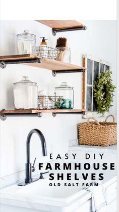 Farmhouse Style Kitchen, Modern Farmhouse, Farmhouse Decor, Furniture Makeover, Diy Furniture, Layout, Shops, Kitchen Decor, Room Kitchen