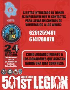 Invita Legion 501 Star Wars a campaña de donación de sangre   El Puntero