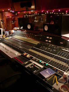 Sound City Studio Neve board. There are only 4 consoles like this ever created. Rupert Neve, you genius.