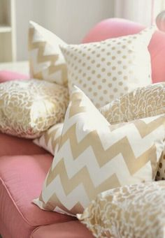 Plush couch pillows