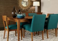 Teal Appeal Dining Room | Ethan Allen