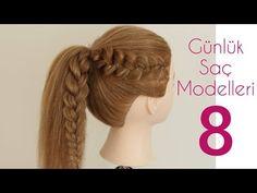 Günlük Saç Örgüleri (Model -8)/Sabiş'in Saç Örgüleri-Sabishairstyles(ters örgü) - YouTube
