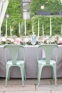 Mint Chairs at Wedding   photography by http://www.cassiclaire.com/