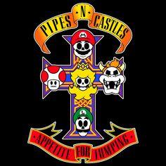 Pipes N' Castles by In Stank We Trust #supermariobros, #gunsnroses