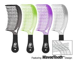 The Wet Comb Detangling Hair Comb - Metallics Collection (Colors May Vary) J & D Beauty Products $5.98 & FREE Shipping