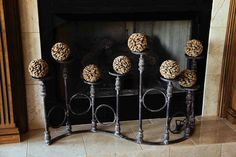 great folding candle stand - perfect for fireplace!  Evergreen at the Lake of the Ozarks  www.EvergreenMfg.net