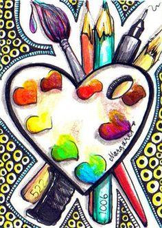 """""""Art Hearts for Haiti"""" #2 by Margaret Storer-Roche"""