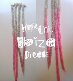 4 Clip-in  Synthetic hair dread extension   por hippiechicdreads