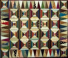 Quilts: Log Cabin (Courthouse Steps variation)