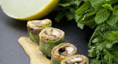 TAM TAM ME - Crazy oven roll, Chinese beef, scallops, shiitake mushrooms, grilled aubergine, Dan-Dan chili sauce...