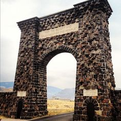 The Roosevelt Arch at the North entrance of Yellowstone in Gardiner, MT.