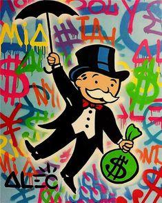 Alec Graffiti painting pop art street art urban art money art on canvaswall pictures for living room home decor wall Graffiti Painting, Art Painting, Wall Art Pictures, Modern Art Paintings, Art, Graffiti Art, Canvas Art, Canvas Painting, Pop Art