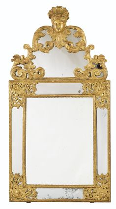 A FRENCH GILTWOOD MIRROR, EARLY 18TH CENTURY